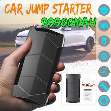 99900mAh 2 USB 12V Car Jump Starter Pack Booster LED Charger Battery Power Bank