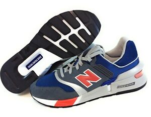 Mens New Balance 997 LGS Blue Grey Orange Sneakers Shoes SS Sample Size 9.5