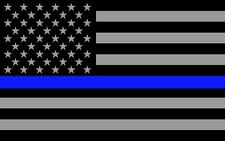 "(2)Thin Blue Line Flag SD(4.5"" x 3"") Full Color Printed Vinyl Window Sticker"
