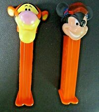 Lot/2 Disney Tigger And Mickey Mouse *Extremes Racing Goggles* Pez Dispensers