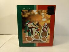 Snowman 6 Piece Coaster & Holder Set Holiday Christmas Decoration ch1170