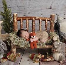 newborn pine log bench photo prop
