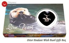 Wish Pearl 20*24mm Otter Cage Pendant Chokers Women Necklace Oyster Box-who3658