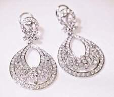3.50 Ct Sim Diamond Women's Silver Chandelier Earrings 14k White Gold Plated