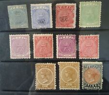 FIJI 1872-82 Collection(11) Mint cat £540