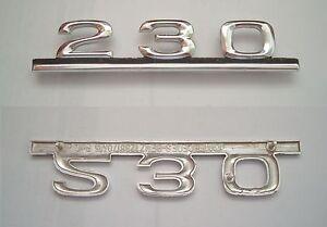 Original Mercedes Benz 230 Schriftzug  in chrom
