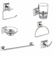 New Chrome Made Loxton Bathroom Fittings Wall Mounted Bath Accessory Set