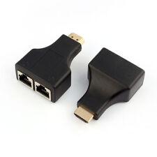 Extensor de señal HDMI RJ45 cat 5e cat 6 Hasta 30m y 1080p Adaptador