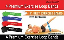 Resistance Loop Bands Best Exercise Set of 4 Strength Performance Theraband