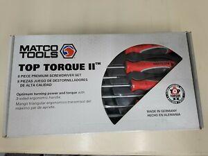 NEW MATCO USA # SSPCR8C RED 8 PIECE TOP TORQUE II PREMIUM SCREWDRIVER SET