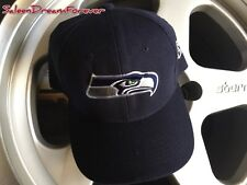 NFL SEATTLE SEAHAWKS FOOTBALL NAVY BLUE EMBROIDERED BASEBALL HAT CAP SPORTS BALL