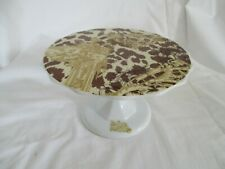 """ROSANNA FOOTED CAKE STAND - ROUND WITH SCALLOPS EDGES 8"""" IN DIAMETER"""