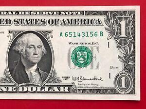 1977 $1 Dollar Bill Note ( BOSTON A ) Uncirculated