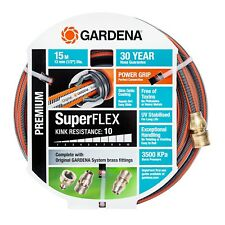 GARDENA 13mm X 15m Brass Fitted Superflex Hose
