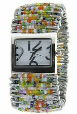 Bead Safety Pin Stretch Watch Brand New (Multi-color)