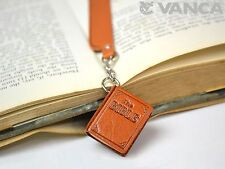 The Bible Leather Charm Bookmarker *VANCA* Made in Japan #61583