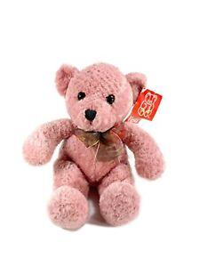 """Fiesta Teddy Bear With Ribbon 12"""" Plush A01013 NWT"""