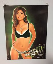 MONSTER ENERGY DRINK POSTER ERIKA MEDINA  BEER POSTER