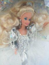 NRFB Happy Holidays BARBIE Doll 1992 Mattel Crystal and Silver HOLIDAY FANTASY