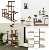 Home Multi-Tier Bamboo Plant Stand Planter Rack Flower Bookcase Pots Display USA