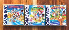 Super Mario Land 1 2 + 3 WARIO LAND TRILOGY Gameboy Box Manual CIB Nintendo lot3