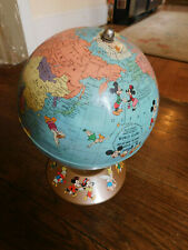Vtg 1950 Rand McNally Walt Disney World Globe Rare Soviet Union w/ Characters