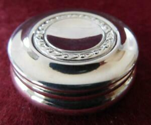English Carrs of Sheffield Sterling Silver Pill Box 1995