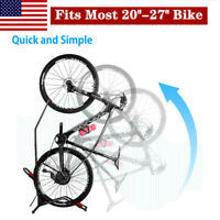 Vertical Dirt Bike Storage Rack Bicycle Floor Parking Stand Indoor Save Space US