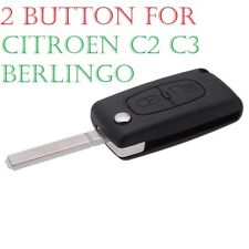 Replacement 2 button flip key case for Citroen C2 C3 Berlingo remote fob