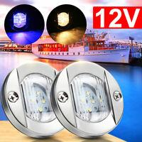 LED Navigation Light Marine Boat Yacht Stern Light Stainless Steel Warm/Blue
