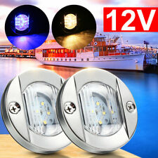 LED Navigation Light Marine Boat Yacht Stern Light Stainless Steel Warm/Blue 12V