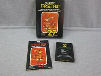 Vintage Atari 2600 TARGET FUN Video Game Cart w/ Box & Manual 1978 Tele Games