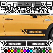 Mini JCW Side Door Stripe Racing Graphics Decal Sticker Kit John Cooper Works
