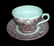 BROADHURST STAFF Red/Pink Constable Series Bicentennial Cup + Saucer Set 1960-79