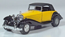 "Yatming Mercedes 540K Cabriolet 4.75"" Die Cast Scale Model Pull Back & Go Yellow"