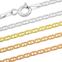 Marine Chain - 925 Sterling Silver - F - 2.0-2.4 mm + 16,18,20,22,24,26,28,30 in