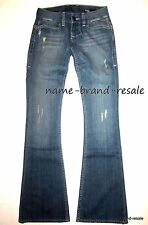 WILLIAM RAST NEW SAVOY Flare JEANS Womens 23 x 34 Ripped Low Rise Designer Denim