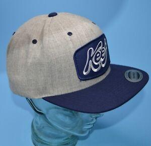 Yupoong KEEF snapback hat gray/navy New