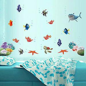 Fische Hai Wandsticker Wandaufkleber Badezimmer 83tlg. Aquarium Meer