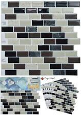 "Six (6) sheets Tiles Peel and stick DIY backsplash Tile Stick-on Wall 10""X10"""