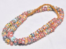 Nepal handmade mix color glass beads necklace beautiful chevron trade beads