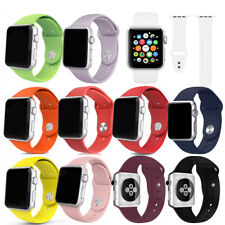 Silicone Strap Band For Apple Watch iWatch 38/40/42/44mm Unisex Sport 9 Colors