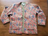 Orvis Women's Sporting Traditions Reversible Quilted Embroidered Floral Jacket S