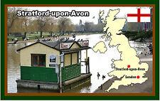 STRATFORD - SUR - AVON, UK - SOUVENIR NOUVEAUTÉ AIMANT DE RÉFRIGÉRATEUR - SITES