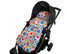 GOOSEBERRY FOOTMUFF PRAM SEAT LINER SLEEPING BAG 2in1 COSY TOES Cotton Flowers