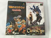 Lot Tactics Ogre Battle CIB SFC Super Famicom SNES NTSC-J Japan import F/S