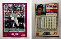 Jose Cruz Signed 1988 Score #28 Card Houston Astros Auto Autograph