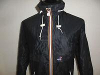 vintage 80s K-WAY Nylon Regenjacke k.way oldschool blau kway glanz Jacke Gr.7 L