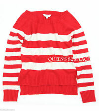 Nwt 77Kids American Eagle Girls size 10 Red Beige Striped Sweater pullover New