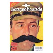 Lieutenant Moustache - Fancy Dress Accessory Black Tash Army Soldier Officer